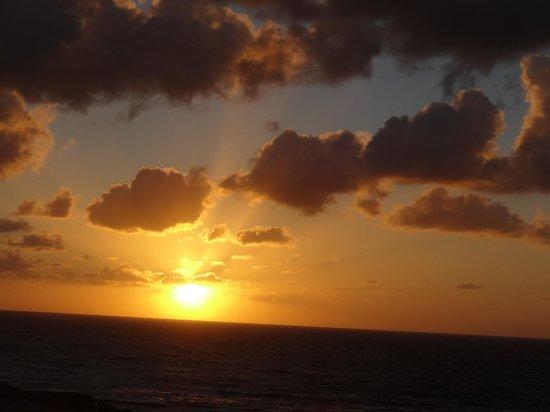Panorama Hotel: superbe coucher de soleil