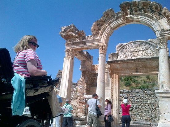 Ephesus Kusadasi Guide: Hadrian Temple with a Wheelchair