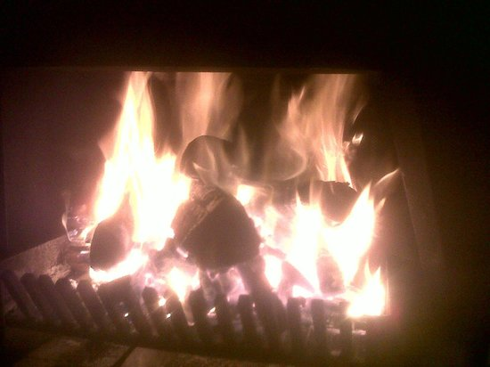 Fairy Knowe Hotel: Cosy fire in the lounge
