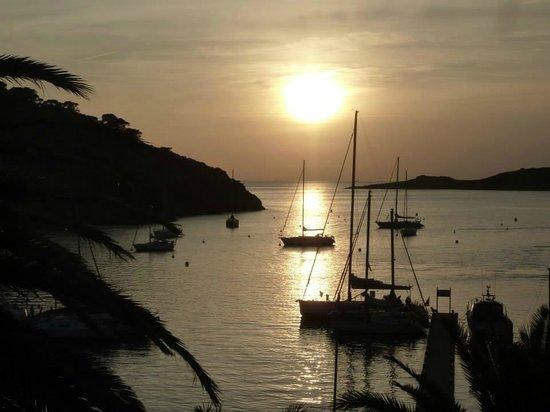 National Park of Port-Cros: coucher de soleil (depuis le balcon de la chambre)