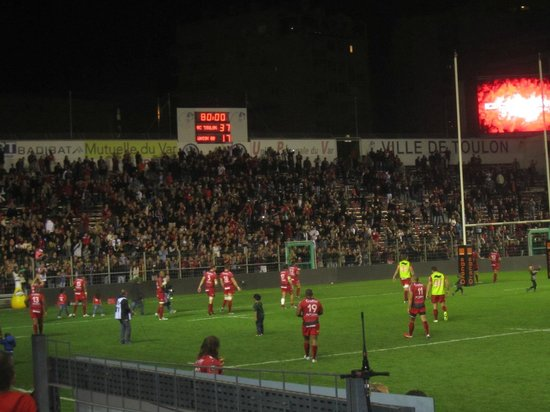 Stade Mayol : tribune of supporters
