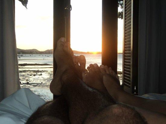Martin Pescador: por do sol lindo