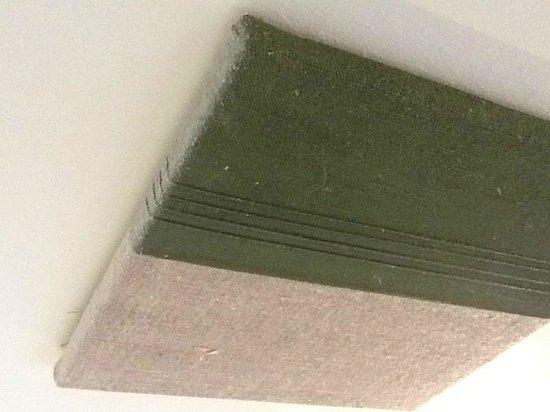 Gut Pössnitzberg: Der Dreck auf einem der 2 Bilder über dem Bett (leider um 90° gekippt)