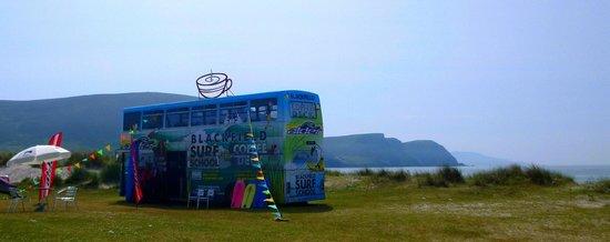 Blackfield Surf School: The double decker bus on keel beach !