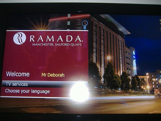 Ramada Manchester Salford Quays: Welcome in the room