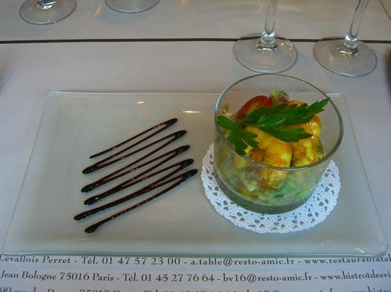 Le Bistrot des Vignes: Shrimp with avocado