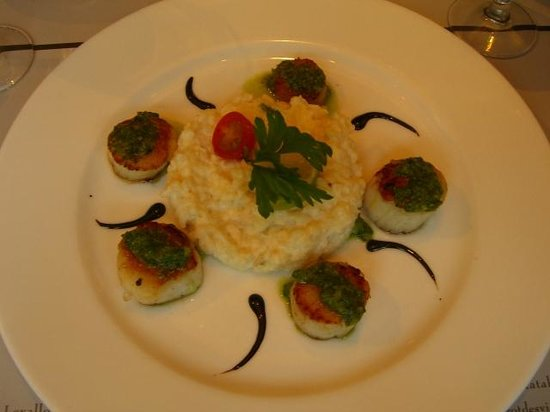 Le Bistrot des Vignes: Risotto with scallops