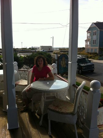 Angel of the Sea: The porches are delightful for reading and relaxing!