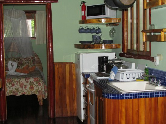 Samara Tree House Inn: Kitchenette in #4 Treehouse