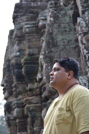 Alliance Villa: Myself at the Bayon Temple...