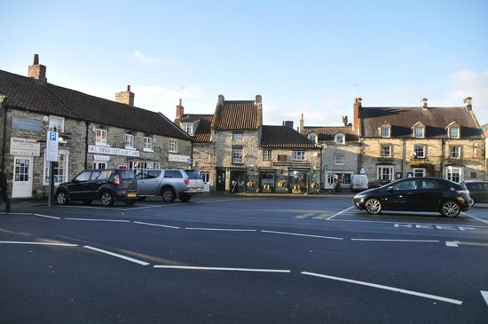 The Feathers Hotel: The square - centre of Helmsley .