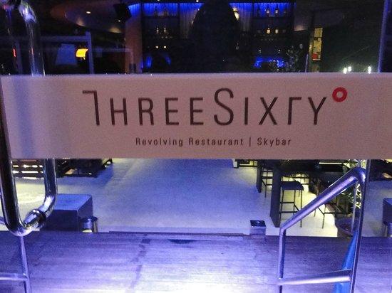 Three Sixty Revolving Restaurant Skybar Door Signs