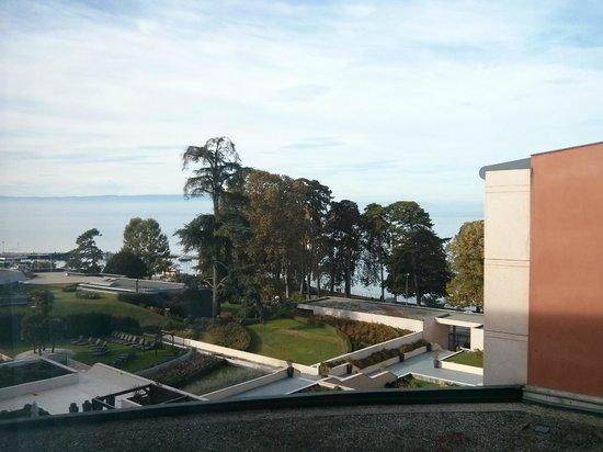 Hilton Evian-les-Bains: Vue depuis la chambre 4ème étage