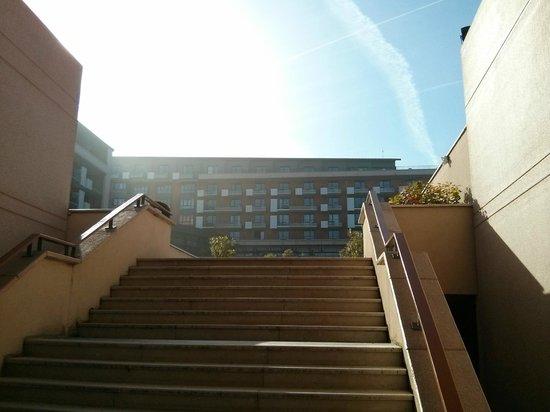 Hilton Evian-les-Bains: Vue Façade Hilton