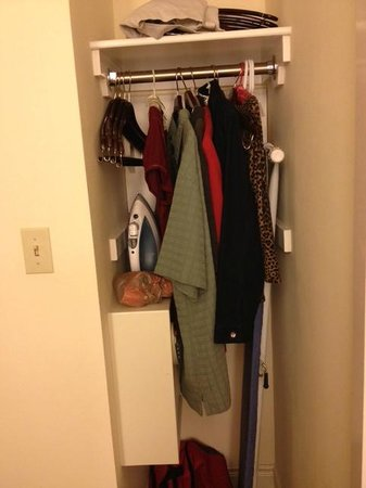 "Hilton Miami Airport : 24"" wide closet (shared space with ironing board & safe)"