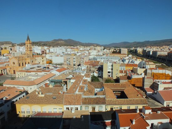 Salles Hotel Malaga Centro: Looking north from the rooftop terrace