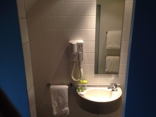 Hotel du Congres: Sink-not much space for toiletries