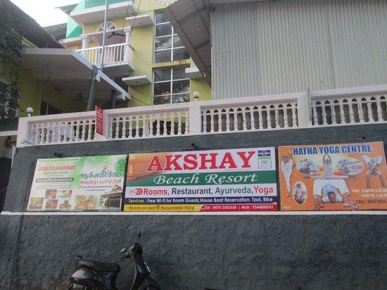 Akshay Beach Resort: Sign again