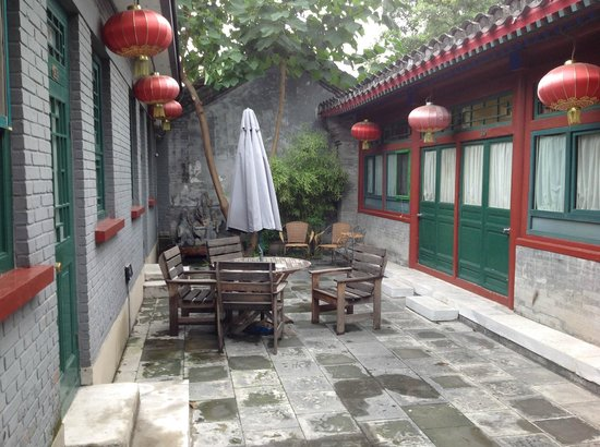 Beijing Sihe Courtyard Hotel : the covered courtyard