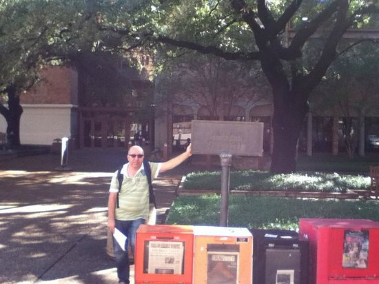University of Texas at Austin : at the front of gymnasium