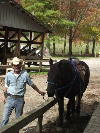 Cades Cove Riding Stables: Cindy comin' on up, Cades Cove Stable