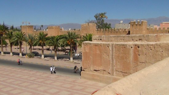 Ryad Dar El Hana: View of the High Atlas Mountains from the town wall