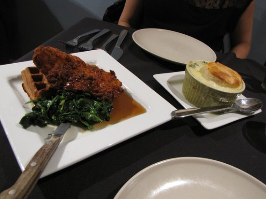The Porch: Chicken and Waffles with Chicken Pot Pie