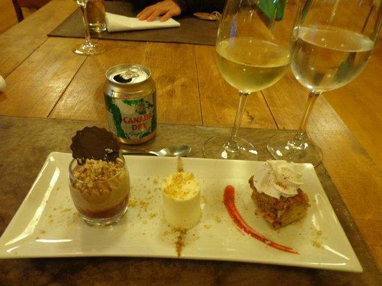 Patagonia Camp: super caprichada sobremesa trilogia de sabores.