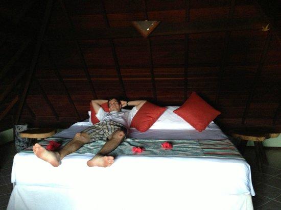 Pedras Secas Inn: Andar de cima com cama de casal