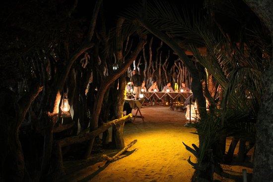 Nkorho Bush Lodge : Stunning boma dinner