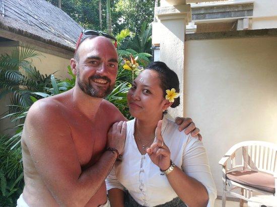 Puri Sunia Resort: Le bonjour  à SRI de la part de PIERRE   merci
