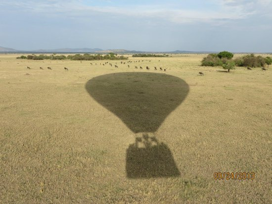 Singita Sabora Tented Camp: Took a Balloon ride over the reserve and passed over Sabora.