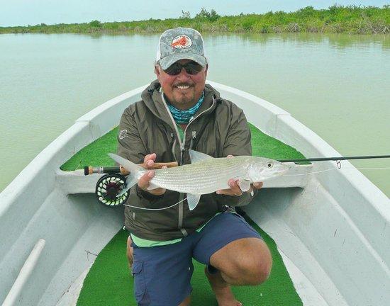Hotel Tierra Maya: Great fly fishing close to Tierra Maya