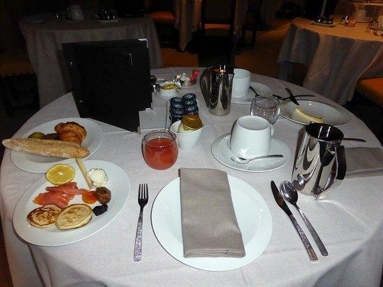 Château de Marçay  : le petit déjeuner