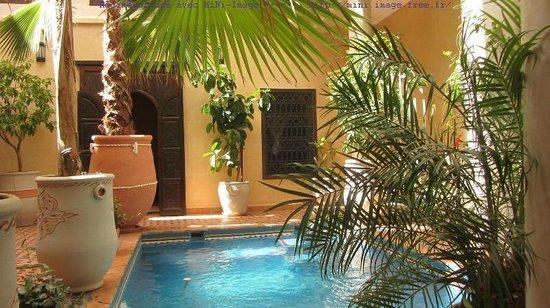 Riad Hadda : piscine