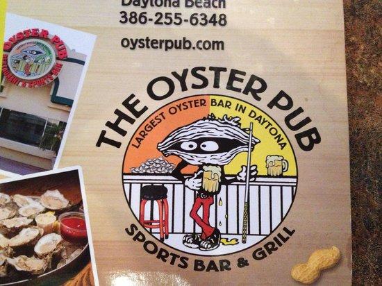 Oyster Pub : Logo on the menu