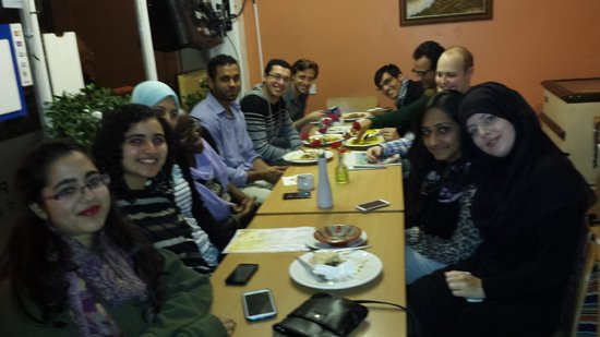 The New Horizon: The Grand Mufti of Exeter's Social Club having dinner at New Horizon