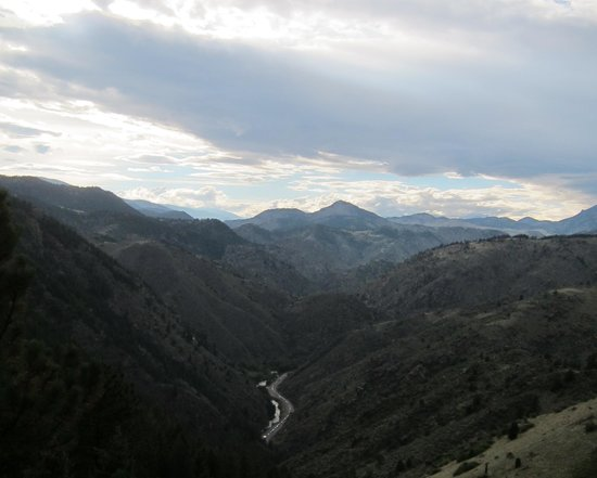 Lariat Loop National Scenic Byway: View from one of the lookouts on the Lariat Loop