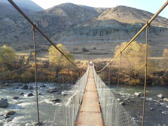 Tirebi Guesthouse: Sergo's bridge
