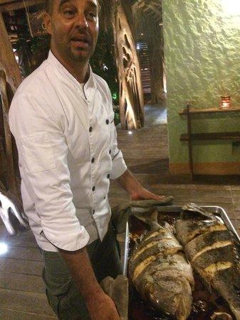 Restaurante La Guaya: Luca is very proud of his local fish