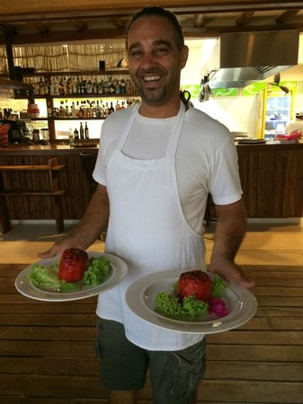 Restaurante La Guaya: Stuffed peppers with a smile