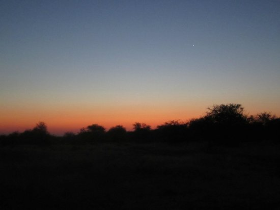 Umlani Bushcamp : sunset with drink in hand - magical