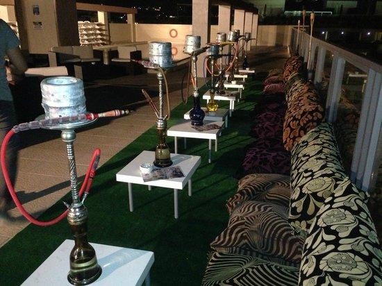 Alexandra Hotel Malta: shisha rooftop bar