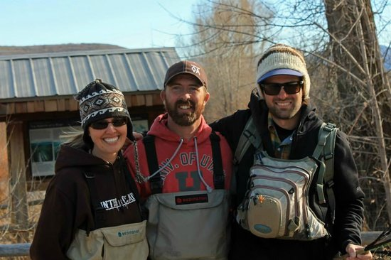 Utah Pro Fly Fishing Tours : Me ... the Hubby... and Jerry (the Fish Whisperer)