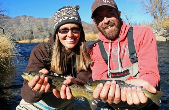 Utah Pro Fly Fishing Tours: We caught a double! Woop woop!