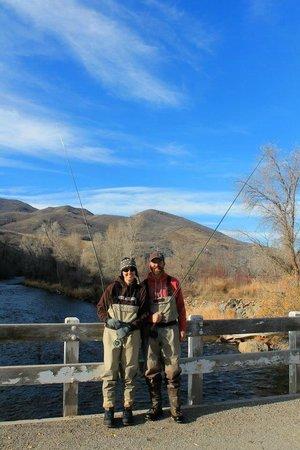 Utah Pro Fly Fishing Tours : We look like fishermen! ....newbies! Haha!