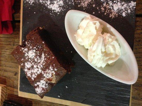 La Galerie : Brownie au chcolat blanc