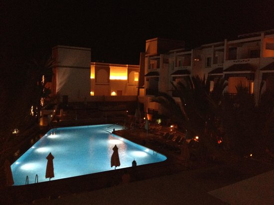 Hotel Timoulay & Spa Agadir : The view from our balcony at night.