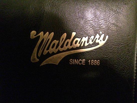 Maldaner's: Menu