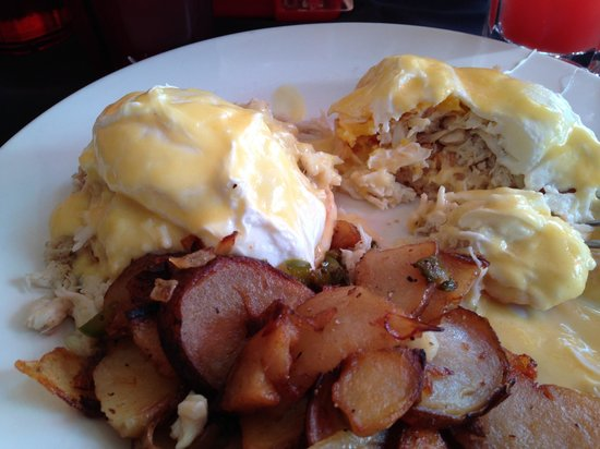 The Backdraft : Awesome Eggs Benedict with Crab